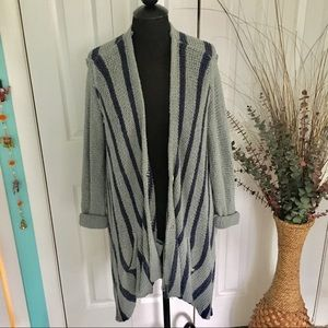 Free People | Oversized Striped Drape Cardigan